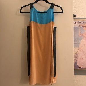 Jean Paul Gautier silk and leather mini dress